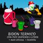 Bidon Termico 2 L C/pico Vertedor + Mate Silicona + Bombilla