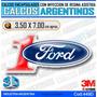 Calcomanias, Stickers, Domes C/relieve, Autos Ford Numero 1