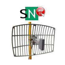 Antena Wireless 18db Semiparabola 2.4ghz Con 10mtrs De Cable