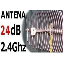 Antena Wireless 24db Grillada Para Internet Inalambrico Wisp