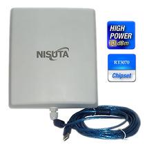Antena Wifi Cpe Nisuta Placa Usb 2000mw 12dbi 5km Auditoria