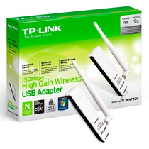 Placa De Red Wifi Usb Tp Link Wn722n 150 Mbp Antena + Cuotas