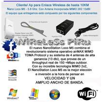 Router Wifi Ubiquiti Nanostation Loco M5 5.8 $1490 X 10
