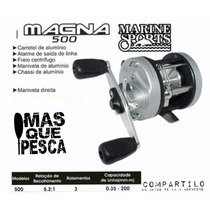 Reel Rotativo Pesca Marine Sports Magna 500 Masquepesca