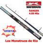 Caña De Pescar Waterdog Evolution 4,00m Telescopica Pejerrey