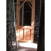 Puerta De Cedro Con Vidrio Entero