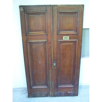 Antigua Puerta 2 Hojas Roble Eslavonia Unica Madera Maciza