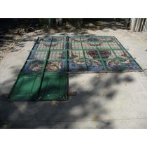 Antigua Mampara Hierro Con Vitreaux 298x345cm Chapasusadas