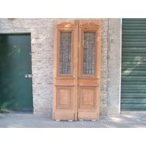 Puerta De Frente De Cedro Con Reja