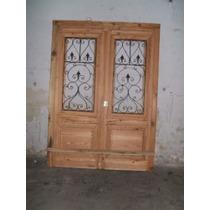 Puerta De Pinotea Reciclado Con Reja