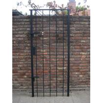 Puerta Reja Hierro Redondo Del 12, Dos Pasadores Y Cerradura