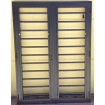 Puerta Reja Hierro Exterior Doble Hoja Premium Chapa18 Pc027