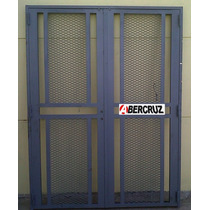 Puerta Reja Hierro Exterior Doble Hoja Premium Maya Pc024