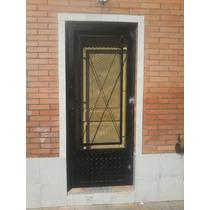 Puerta De Reja En Metal Desplegable Con Cerradura Seguridad