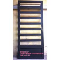 Puerta Reja De Seguridad Hierro Con Marco Y Cerradura Prive