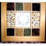 Adorno Reloj De Pared Con Legumbres/esmuychuli