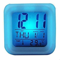 Reloj Cubo Luminoso Digital Led Cambia Colores