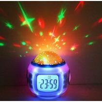 Reloj Despertador Digital Con Musica Y Proyección Estrellas