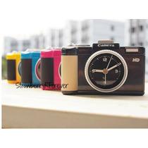 Reloj Despertador Diseño Camara De Fotos
