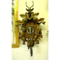 Magnífico Reloj Cucu Alemán Completo Funciona Motivo Cazador