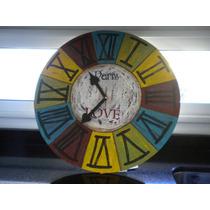 Reloj De Pared Vintage (artesanal)