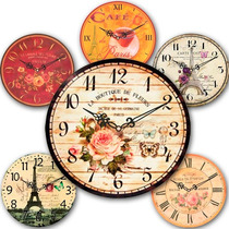 Reloj De Pared Vintage - 6 Modelos Disponibles - 30cm