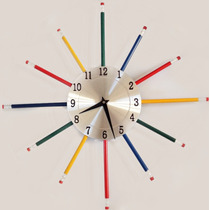 Reloj De Pared Estilo Lapices, Super Original!