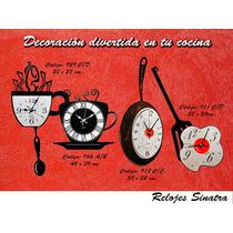 Reloj De Pared, Decoración Ideal Para Tu Cocina!!