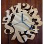 Reloj De Pared Madera Diseño Original Calado
