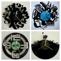 Reloj De Pared En Disco De Vinilo Diseños Originales
