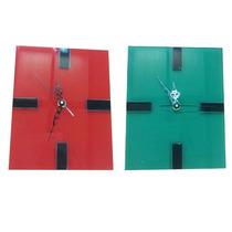Reloj Pared Vidrio Diseño Minimalista 25cm Boutique Oferta!!