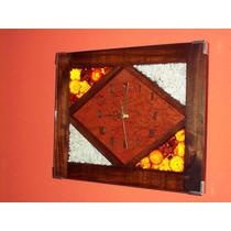 Relojes De Pared Artesanales 28x34 Cm