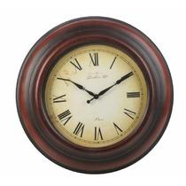 B&f - Reloj De Pared Metal Vintage Marron Diámetro 46,5 Cm