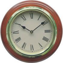 Reloj De Pared En Madera Numeros Romanos Diámetro 30 Cm.