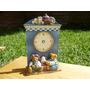 Reloj Adorno Ceramica Pared O Mesa A Reparar Caballito