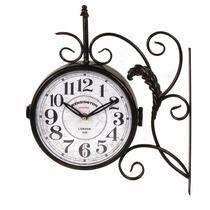 Reloj De Pared Antiguo Metalico - 31x9x37cm - 2 Modelos!