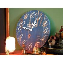 Reloj De Pared Artesanal De 45cm