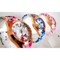Reloj Silicona Estampado Floreado Animal Print Belka !