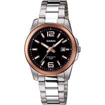 Reloj Casio Dama Ltp-1296d Gold Bisel!! Excelente Precio!!