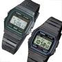 Reloj Casio F-91w Crono Alarma Calendario Luz Wr Vintage
