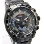 Reloj Casio Edifice Ef-550bk Cronometro 1/20 Red Bull Vettel