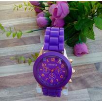 Reloj Geneva Silicona Super Oferta!!!