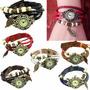 Reloj Cuero Vintage De Mujer Con Dije De Hoja Mercadoenvios