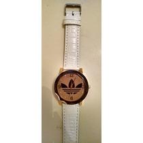 Reloj Nuevo Malla De Cuero Blanco