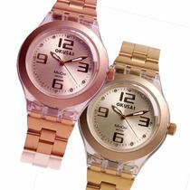 Reloj Okusai Full Mode 705g Mode 705r Strass Acrilico