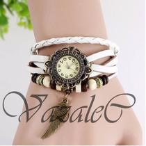 Reloj Pulsera Vintage De Cuero Originales.el Mejor Precio !!