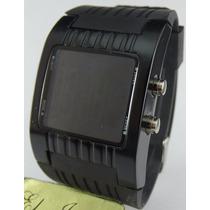 Reloj Pesia Digital Watch Cronometro Luz Alarma Acero Caucho