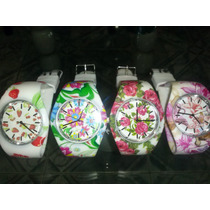 Relojes De Silicona Floreado 2015!!!!