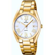 Reloj Festina F16792 Dama Quartz Doree Calendario Garantía