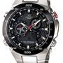 Reloj Casio Eqs-1100-db Solar Cristal Safiro Cronografo